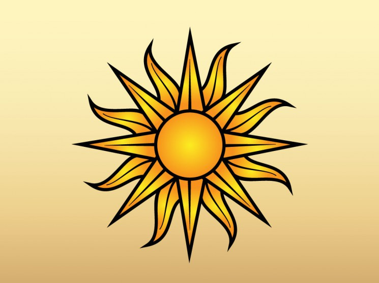 Compass Sun Tattoo Graphic