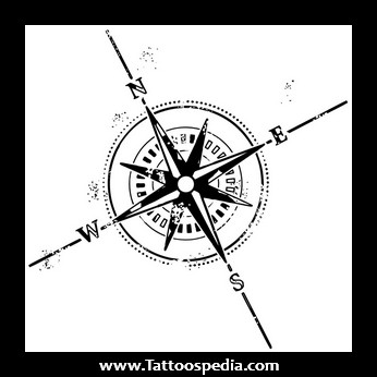 Compass Tattoo On Chest