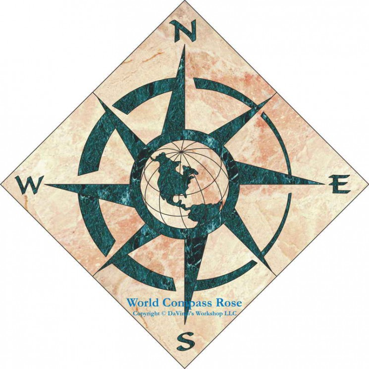 Compass With Roses Tattoo Design