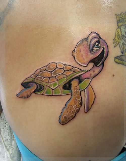Cool Cartoon Turtle Tattoo