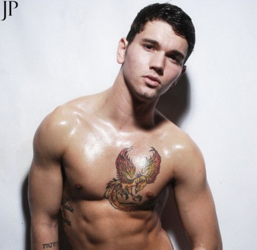 Cool Tribal Tattoo On Chest For Men