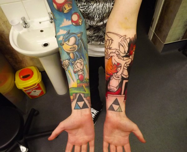 Cool Video Game Tattoos On Arm
