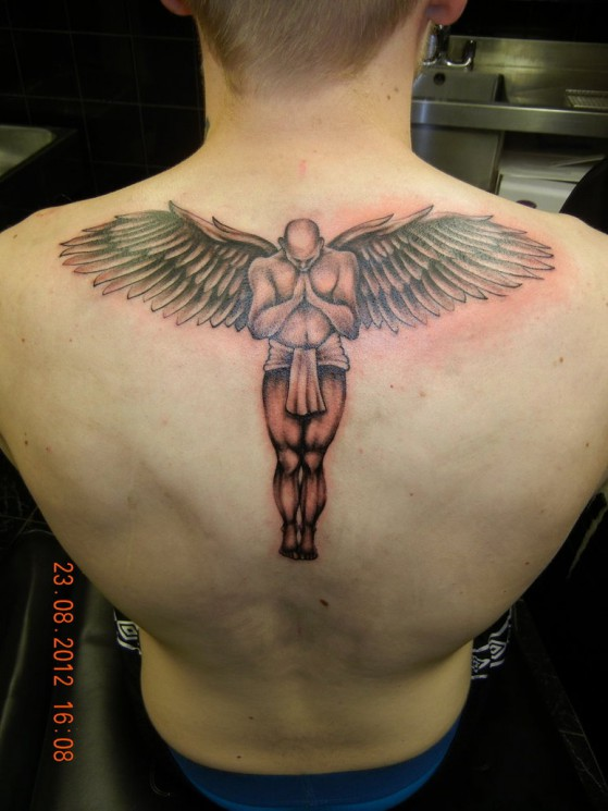 Couple Angel Tattoo Designs