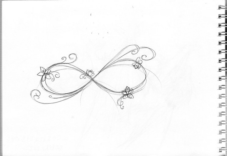 Couple Of Butterflies And Infinity Symbol Tattoo Sketch