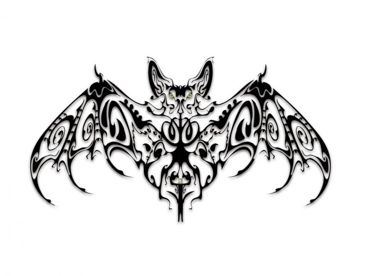 Crazy Bat Tattoo Picture