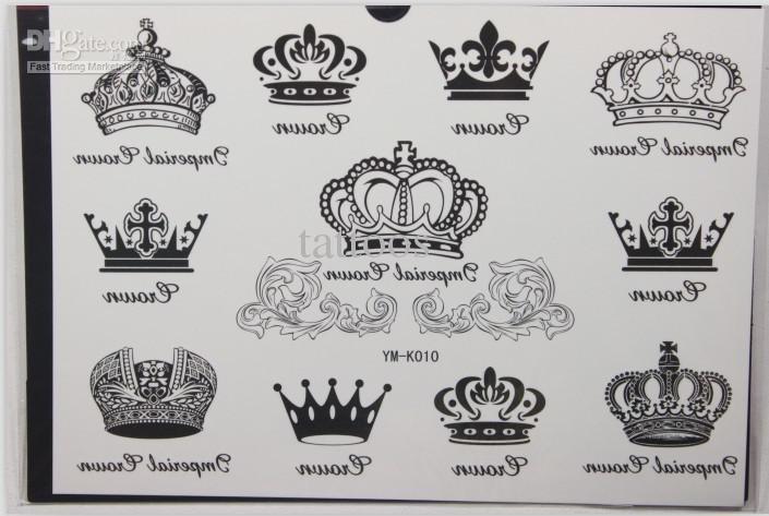 Crown And Alphabet Tattoos For Couple