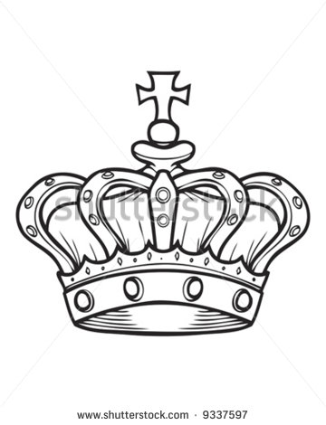 Crown Cross Tattoo Design