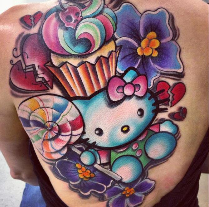 Cup Cake Flower Tattoo