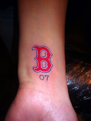Cute Boston Red Sox Tattoos On Back