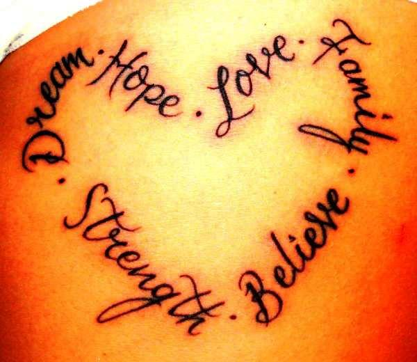 Cute Heart Tattoo For Girls On Hip