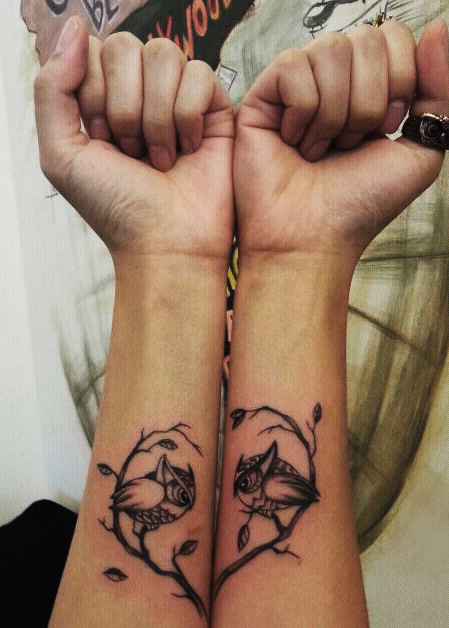 Cute King Penguin Tattoo On Ankle
