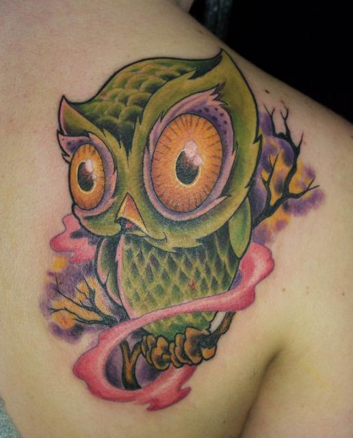 cute owl tattoo designs in 2017 real photo pictures images and sketches tattoo collections. Black Bedroom Furniture Sets. Home Design Ideas