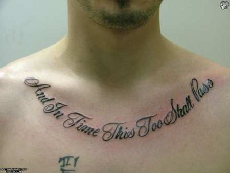 Cute Words Lettering Tattoos On Right Collarbone