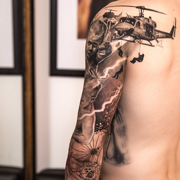 Dark Full Sleeve Tattoos For Men