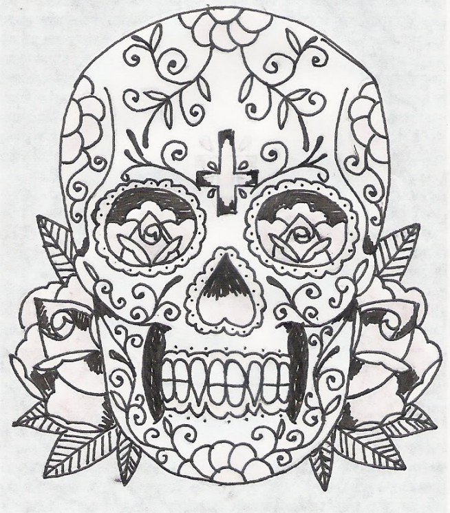 Day Of The Dead Mexican Tattoo Design