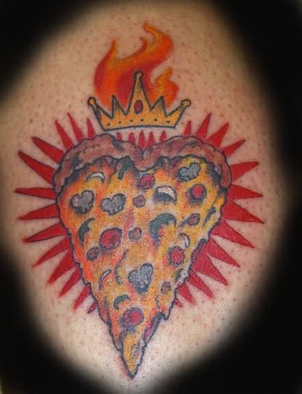 Death By Pizza Tattoo Design