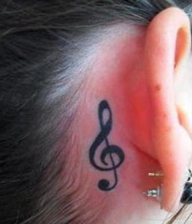 Death Tattoo On Ear