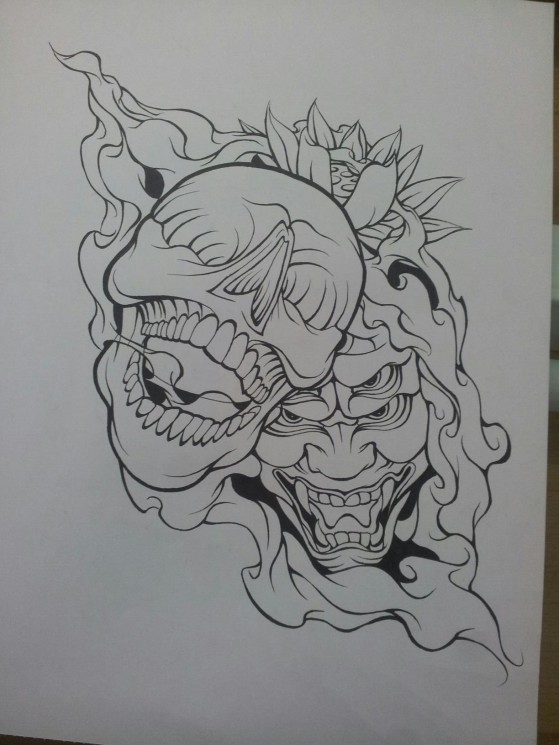 Demon Skull Tattoo Designs