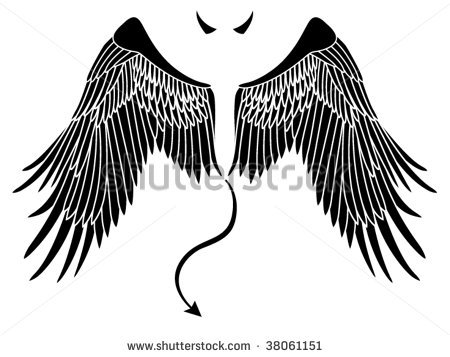 Devil With Wings Tattoo Design