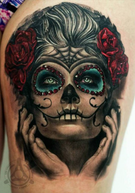 Dia De Los Muertos Tattoo For Girls Image