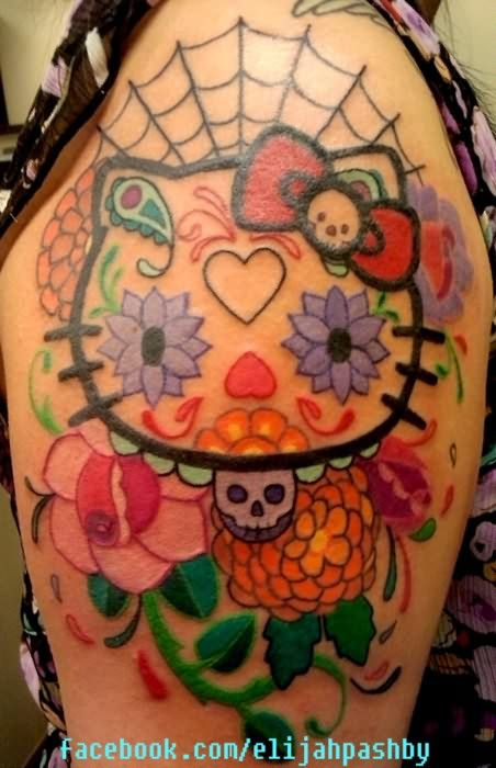 Dia De Los Muertos Tattoo On Sleeve