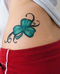 Dice n Four Leaf Clover Tattoo Design