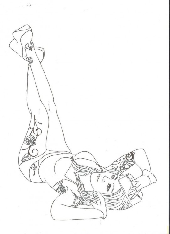 Different Firefighter Pin Up Girl Tattoo
