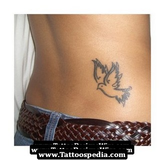Dove With Clover Tattoo Design