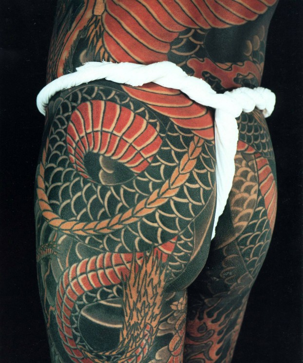 Dragon Japanese Tattoo For Back