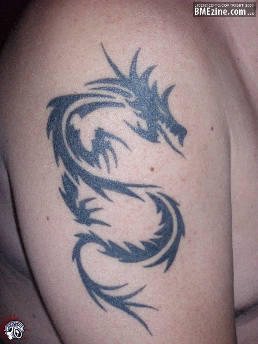 Dragon Tribal Tattoo On Leg Photo 3 2017 Real Photo Pictures