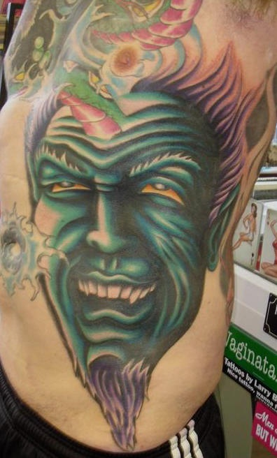 Dreadful Monster Tattoo Designs