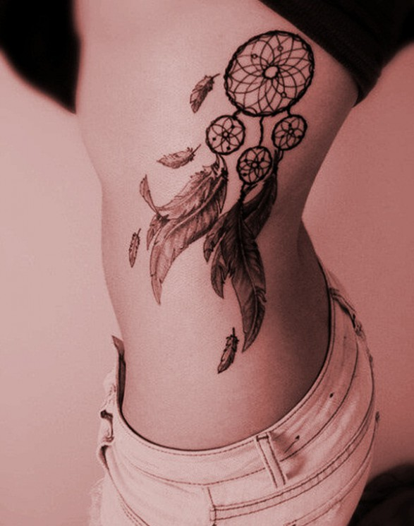 Dream Catcher Tattoo For Sexy Girls