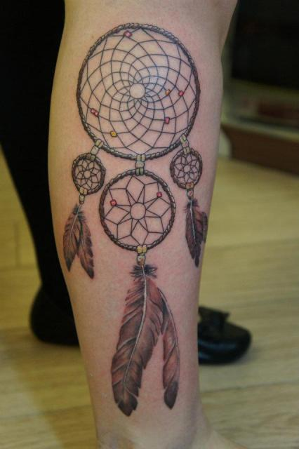Dream Catcher Tattoo For Shoulder