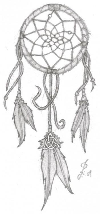 Dreamcatcher With American Flag Tattoo Design