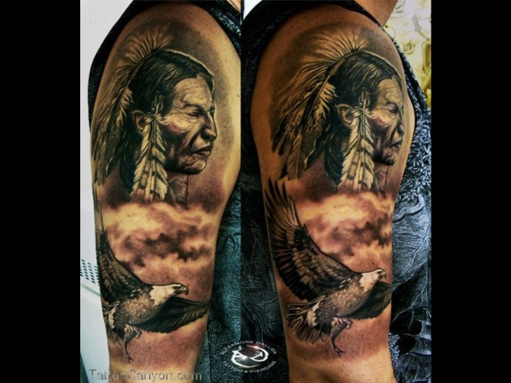Eagle Native American Tattoo Photo