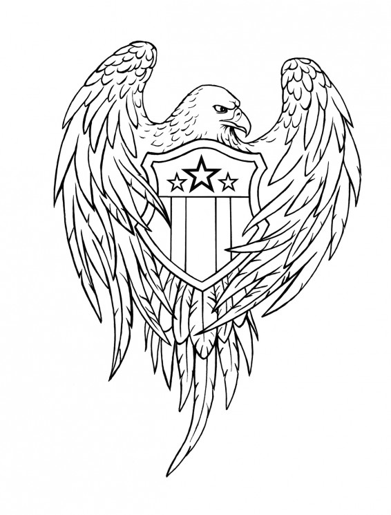 Eagle With Banner Tattoo Design