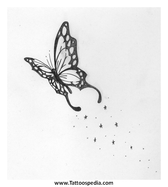 Elegant Butterfly Tattoo Design