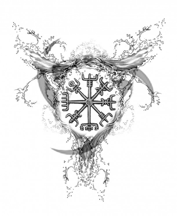 Map & Compass Tattoo For Men