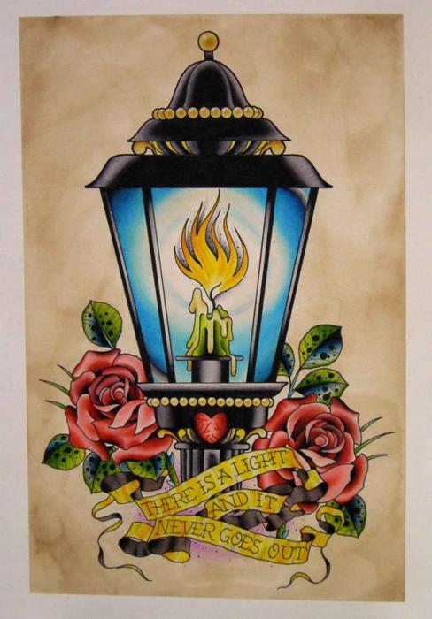 Everyday Is Like Sunday Lamp Tattoo Design