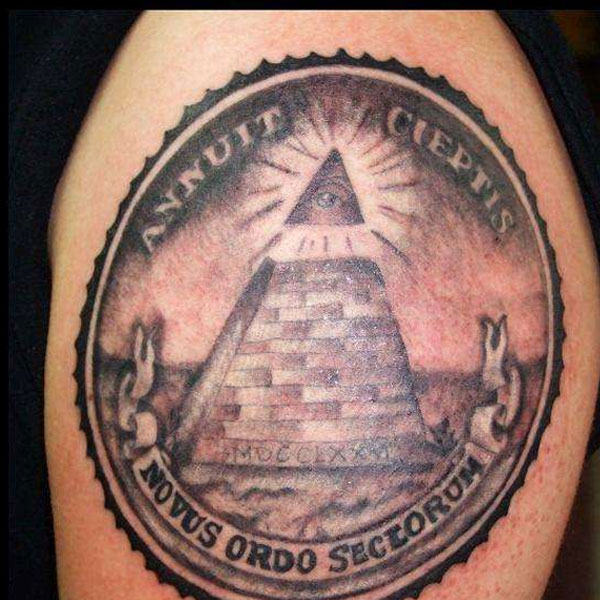 eye pyramid dollar bill tattoo in 2017 real photo pictures images and sketches tattoo. Black Bedroom Furniture Sets. Home Design Ideas