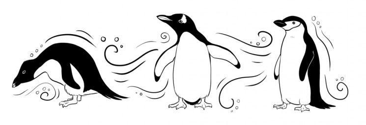 FTW Penguin With Beer Tattoo