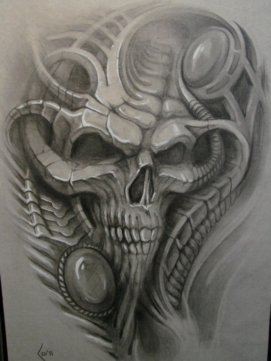 Fabulous Biomechanical Tattoo