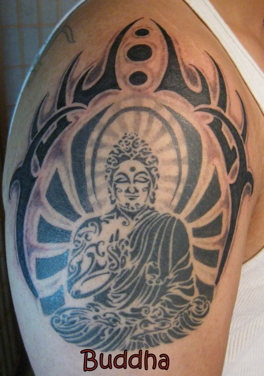 Fabulous Religious Buddha Tattoo Design