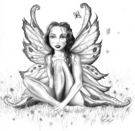 Fairy Angel Tattoo On Ankle