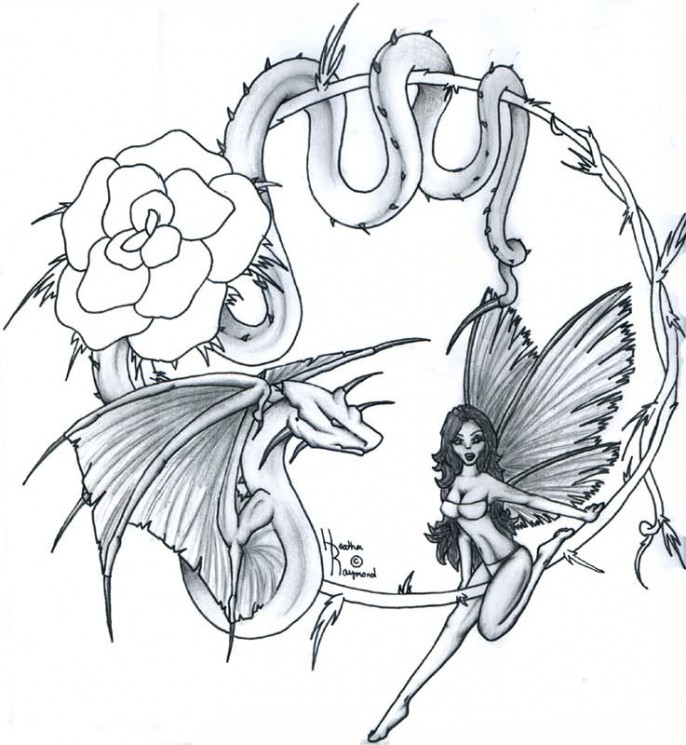 Fairy Angel Tattoo Sample