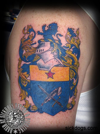 Family Crest Volland David Sickdogs Tattoo
