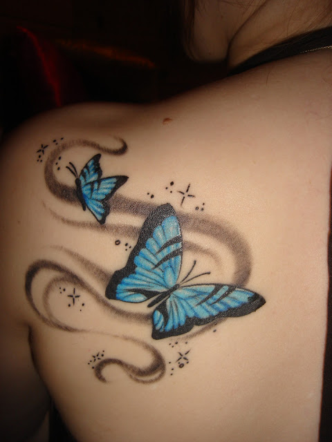 Fantastic Shooting Star Tattoo On Side For Girls