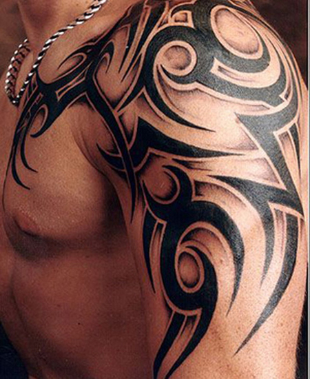Fantastic Tribal Scorpion Tattoo On Shoulder In 2017 Real Photo