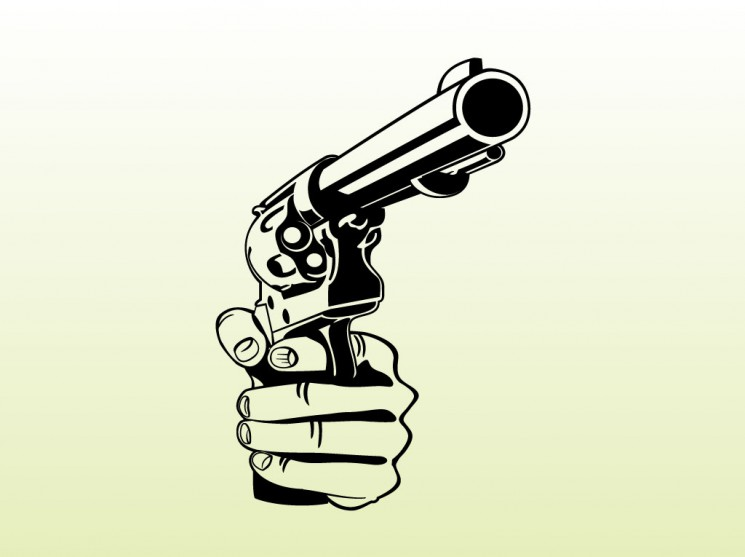 Fantasy 9mm Pistol Tattoo Design