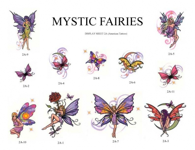 Fantasy Fairies Tattoo Samples